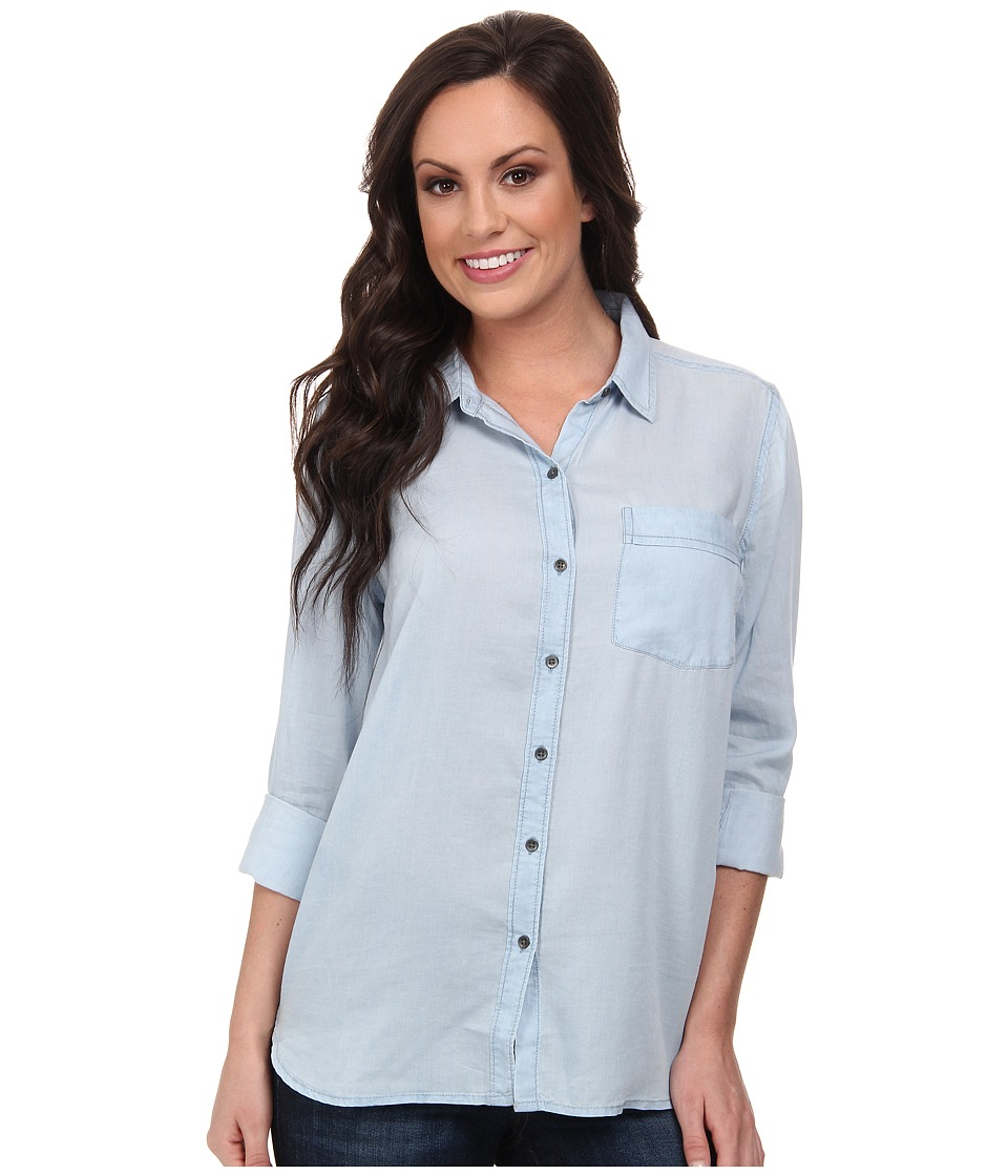 Lucky Brand - Boyfriend Tencel Shirt (#419 Indigo) Women