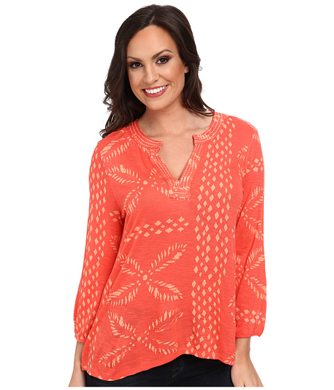 Lucky Brand - Stitched Motif Top (Pink Multi) Women