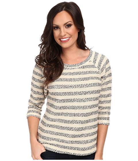 Lucky Brand - Striped Active Raglan (White Stripe) Women