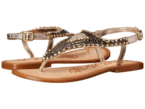 Naughty Monkey - Tina Tiara (Gold) Women's Sandals