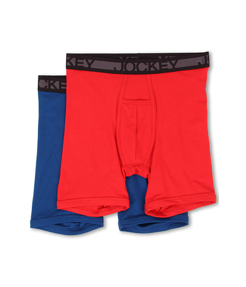 Jockey - Cotton Midway Brief (Race Car Red/So Blue) Men's Underwear
