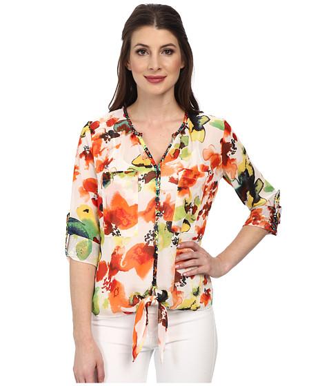 KUT from the Kloth - Zelene Top (Ivory/Orange) Women's Clothing