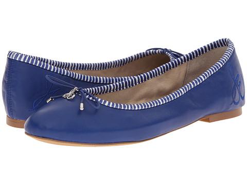 Sam Edelman - Felicia (Indigo Blue Snow White) Women's Flat Shoes