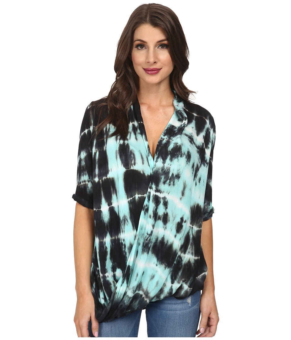 Young Fabulous & Broke - Cora Top (Olive Ocean Ripples) Women's Clothing