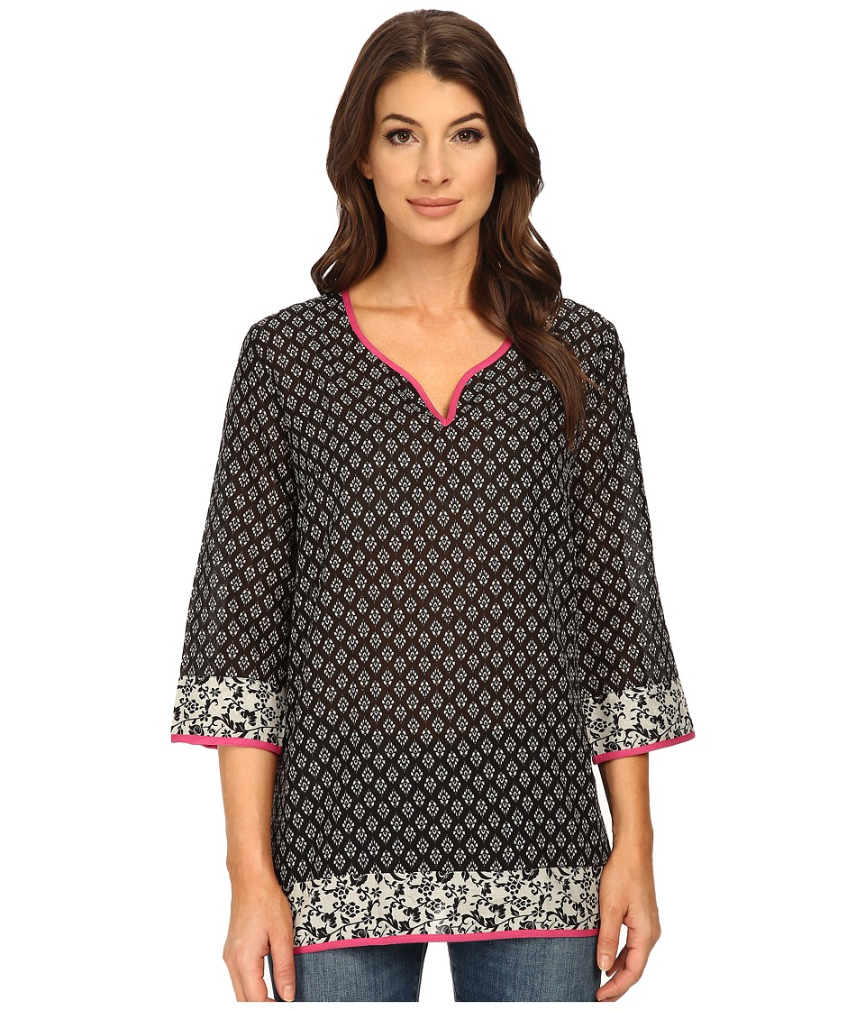 KUT from the Kloth - Bianca (Black/White) Women's Blouse