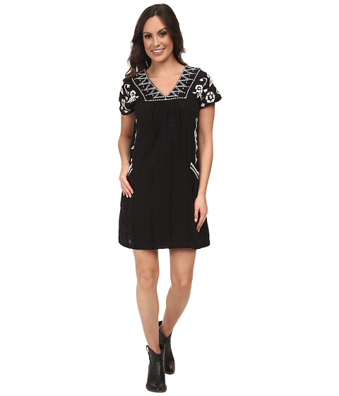 Lucky Brand - Embroidered Shift Dress (Black Multi) Women's Dress