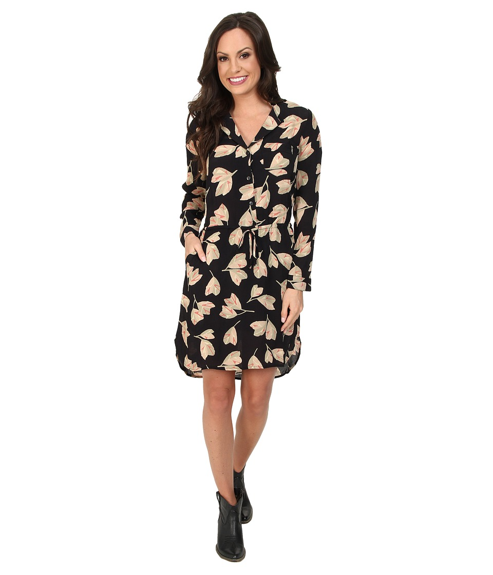 Lucky Brand - Everyday Shift Dress (Black Floral Print) Women's Dress