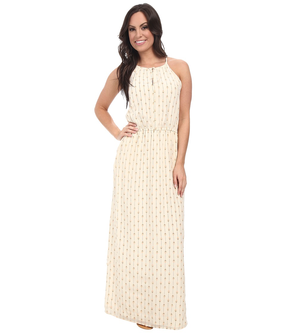 Lucky Brand - Geo Printed Maxi Dress (Natural Multi) Women's Dress