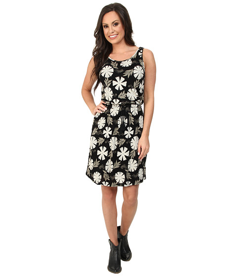 Lucky Brand - All Over Printed Dress (Black Floral Print) Women