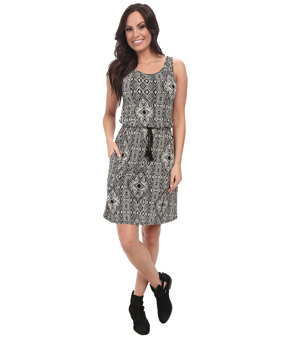 Lucky Brand - All Over Printed Dress (Black Multi) Women's Dress