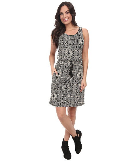 Lucky Brand - All Over Printed Dress (Black Multi) Women