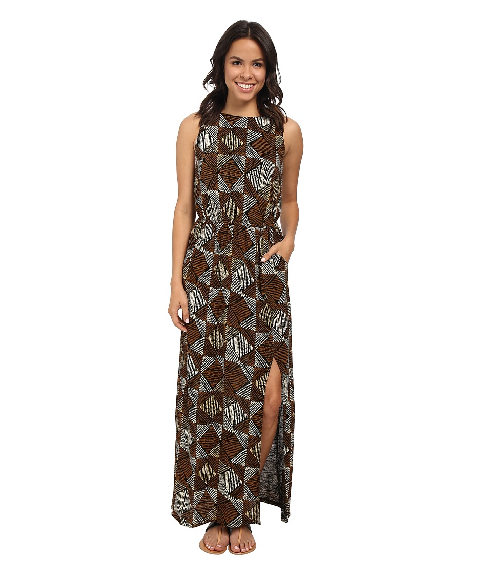 Lucky Brand Batik Dot Diamonds Dress (Black Multi) Women