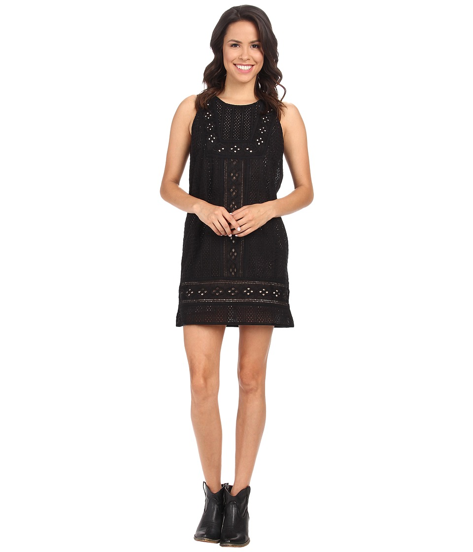 Lucky Brand - Black Eyelet Dress (Lucky Black) Women's Dress