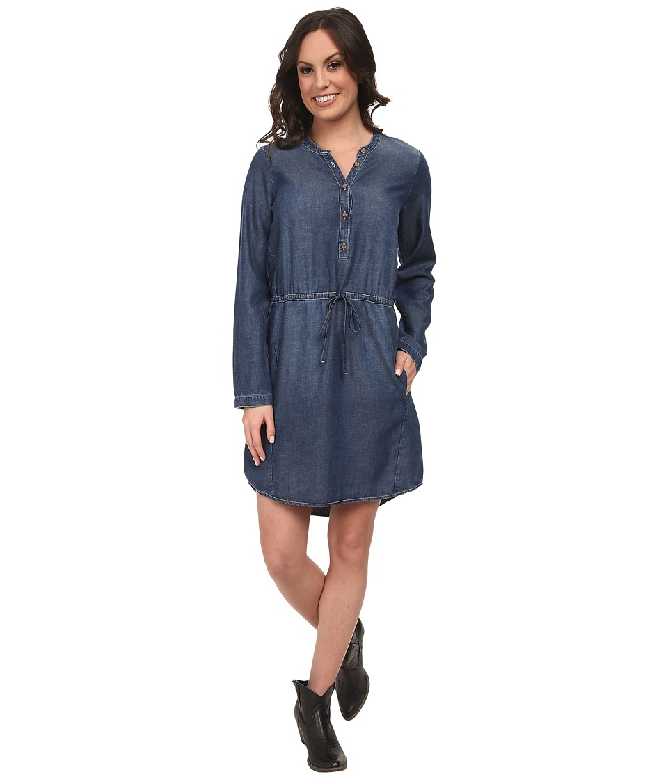Lucky Brand - Chambray Shirt Dress (Ocean) Women