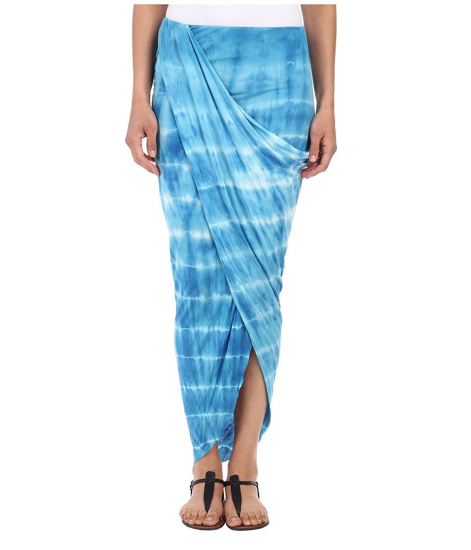 Young Fabulous & Broke - Alana Skirt (Blue Ocean Ripples) Women's Skirt