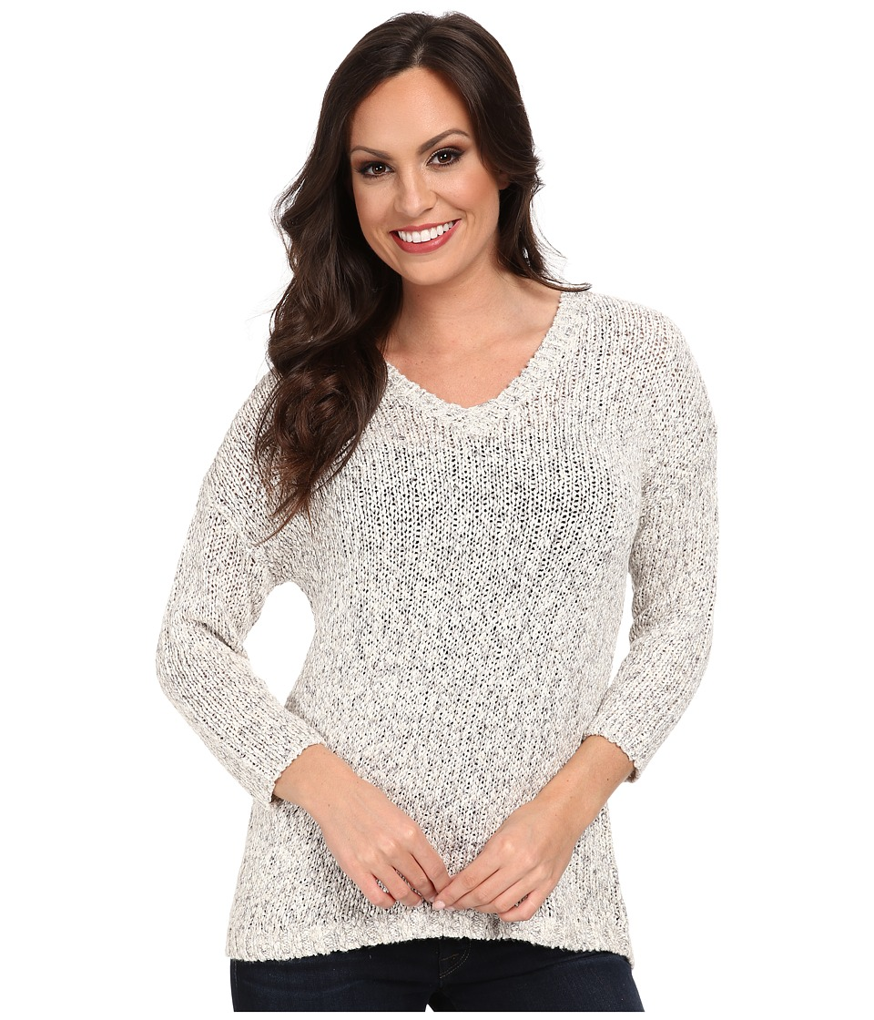 Lucky Brand - Marled Sweater Tunic (Heather Grey) Women's Blouse
