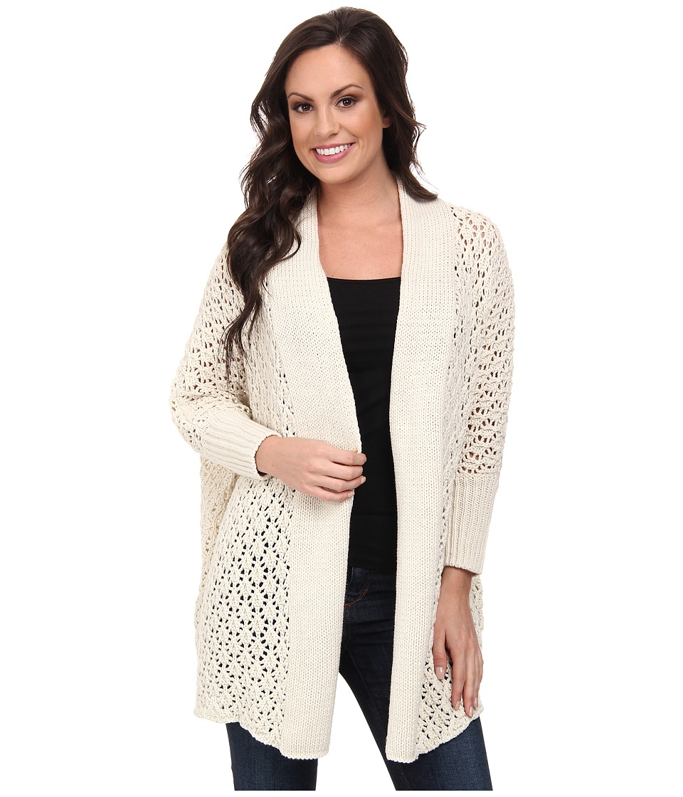 Lucky Brand - Textured Cocoon Cardigan (#2413 Nigori) Women's Sweater