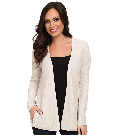 Lucky Brand - Vented Layered Cardigan (030 Stone) Women