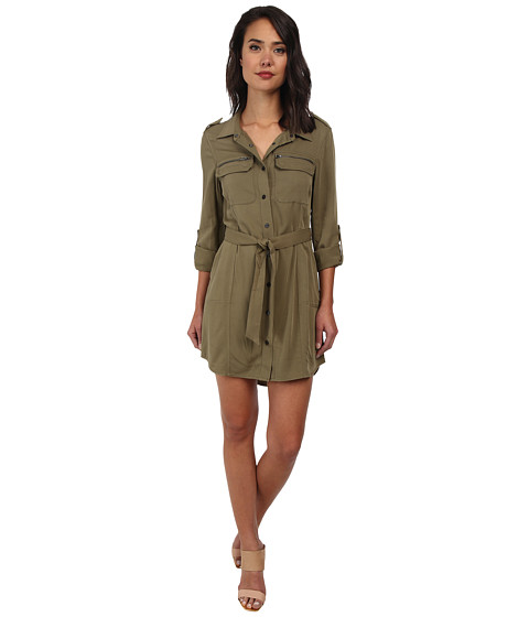 Sanctuary - Village Shirtdress (Safari) Women's Dress