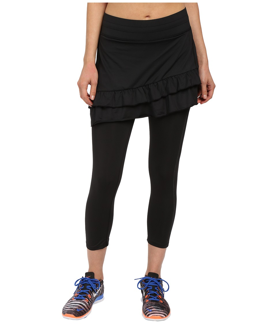 Skirt Sports - Vixen Capri Skirt (Black) Women's Skort