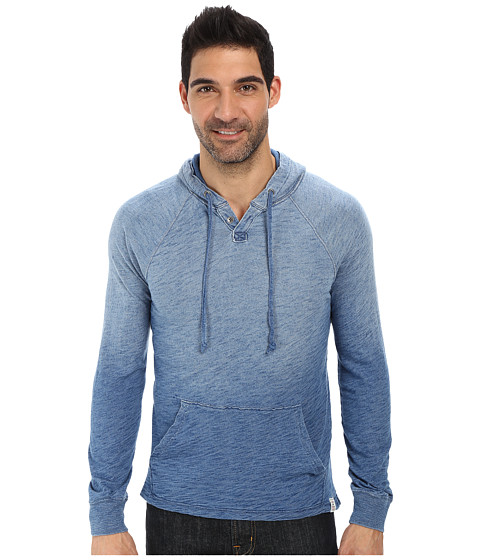 Lucky Brand - Popover Indigo Hoodie (Light Indigo) Men