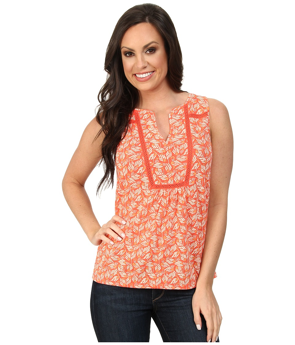 Lucky Brand - Broken Arrows Tank Top (Coral Multi) Women's Sleeveless