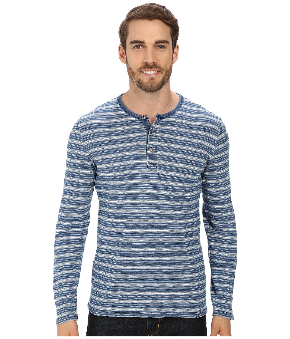 Lucky Brand Indigo Striped Henley (Indigo) Men