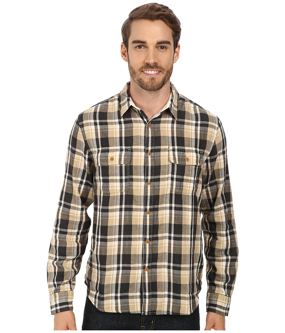 Lucky Brand - Salt Flats Workwear Shirt (Black/Natural) Men's Clothing