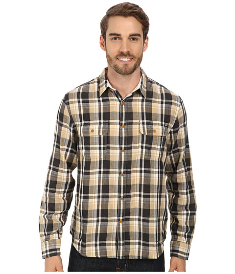 Lucky Brand - Salt Flats Workwear Shirt (Black/Natural) Men