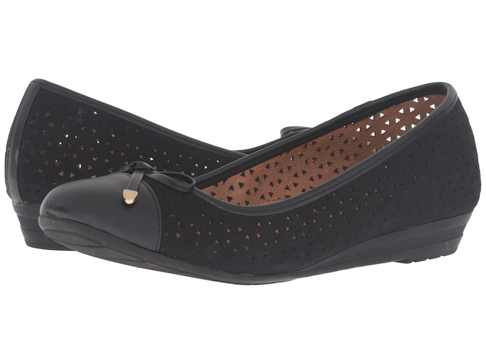 Sofft - Selima II (Black Suede King Suede/Velvet Sheep Nappa) Women's Slip on Shoes