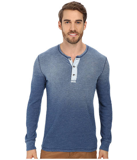 Lucky Brand - Indigo Henley (Light Indigo) Men's Clothing