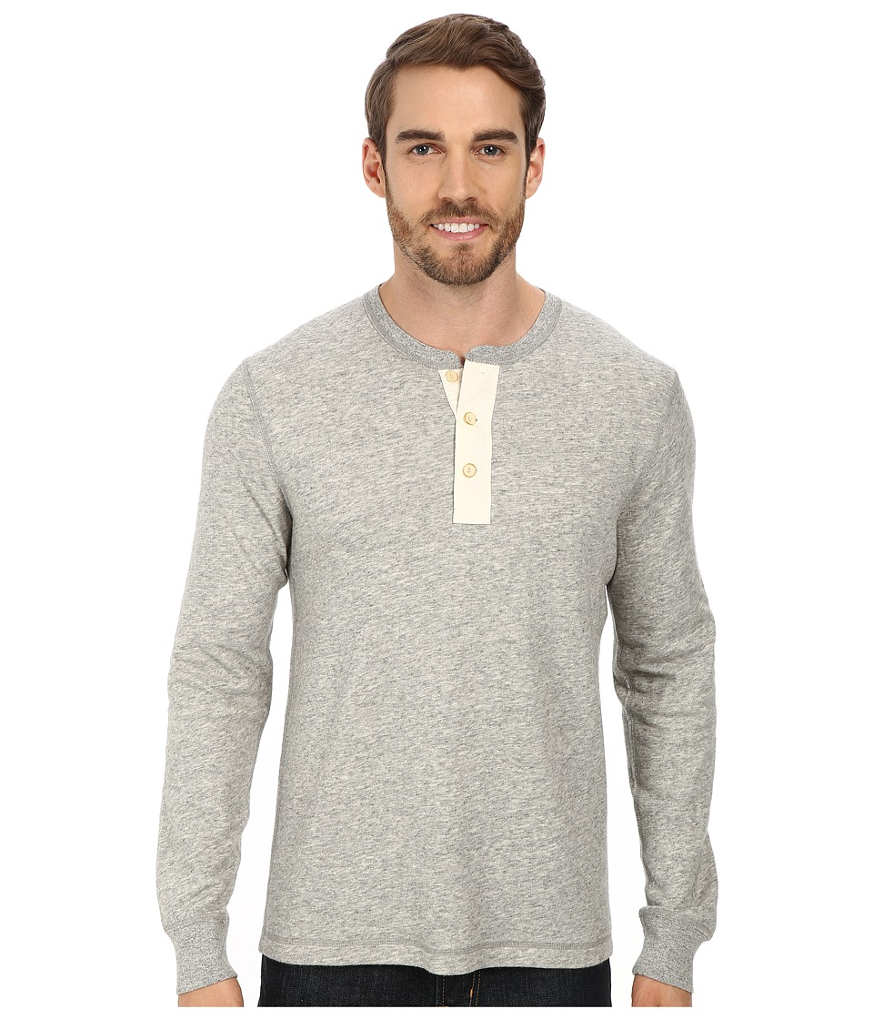 Lucky Brand - Duofold Henley (Heather Grey) Men's Clothing