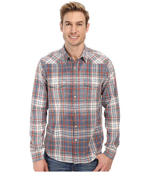 Lucky Brand - Indigo Western Shirt (Red/Blue) Men's Clothing