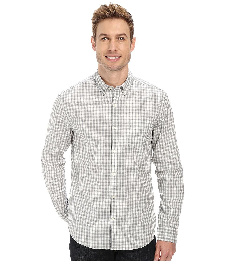Lucky Brand - Palisades Plaid Shirt (White/Heather Grey) Men