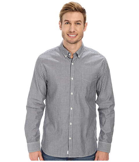 Lucky Brand - Sausalito Stripe Shirt (Navy Stripe) Men