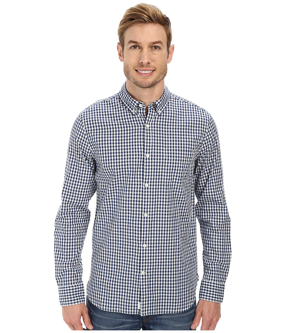 Lucky Brand - Palisades Plaid Shirt (Blue/White) Men's Clothing