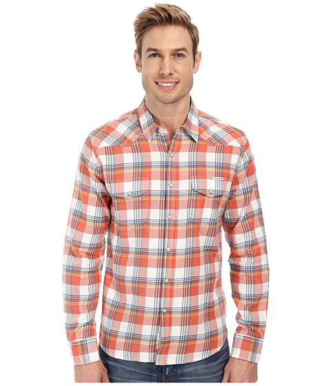 Lucky Brand - Radnor Western Shirt (Red/Navy) Men