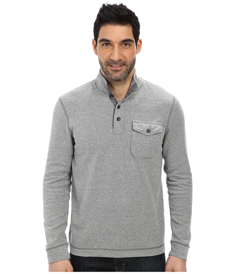 Lucky Brand - French Rib Mock Neck (Grey) Men's Clothing