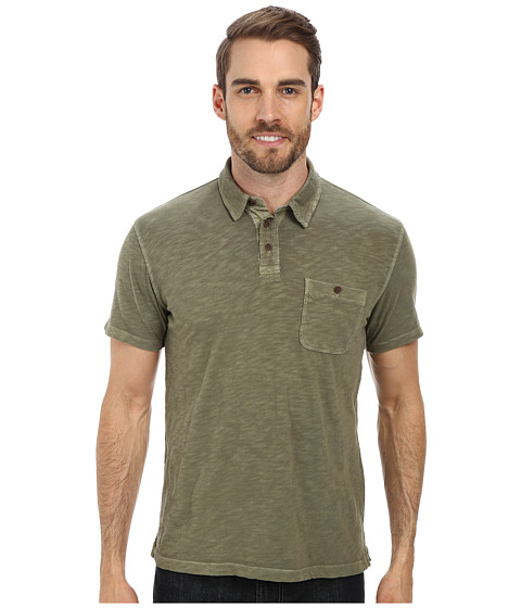 Lucky Brand - Malibu Military Polo (Four Leaf Clover) Men