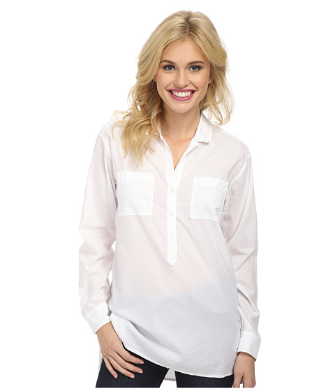 Lucky Brand - White Henley Shirt (Lucky White) Women