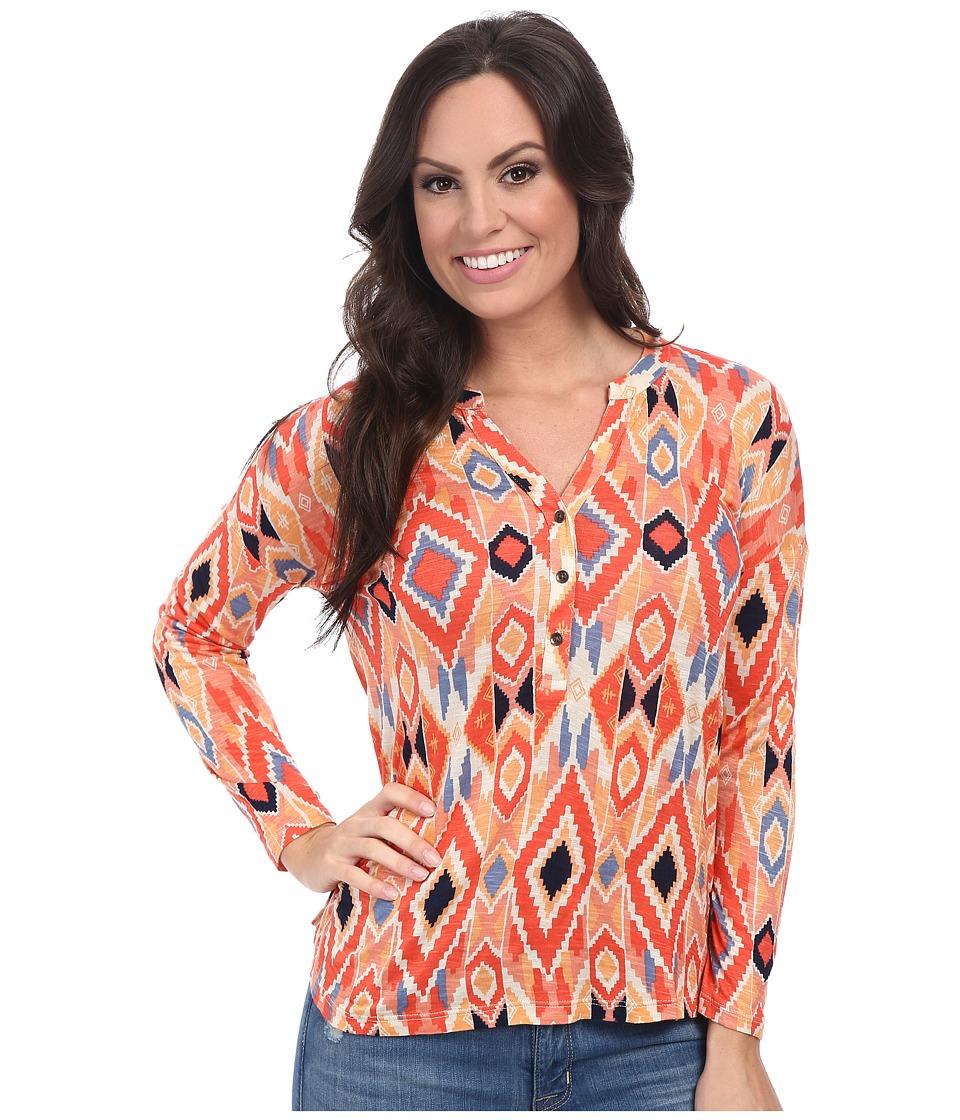 Lucky Brand - Diamond Henley (Multi) Women's Clothing
