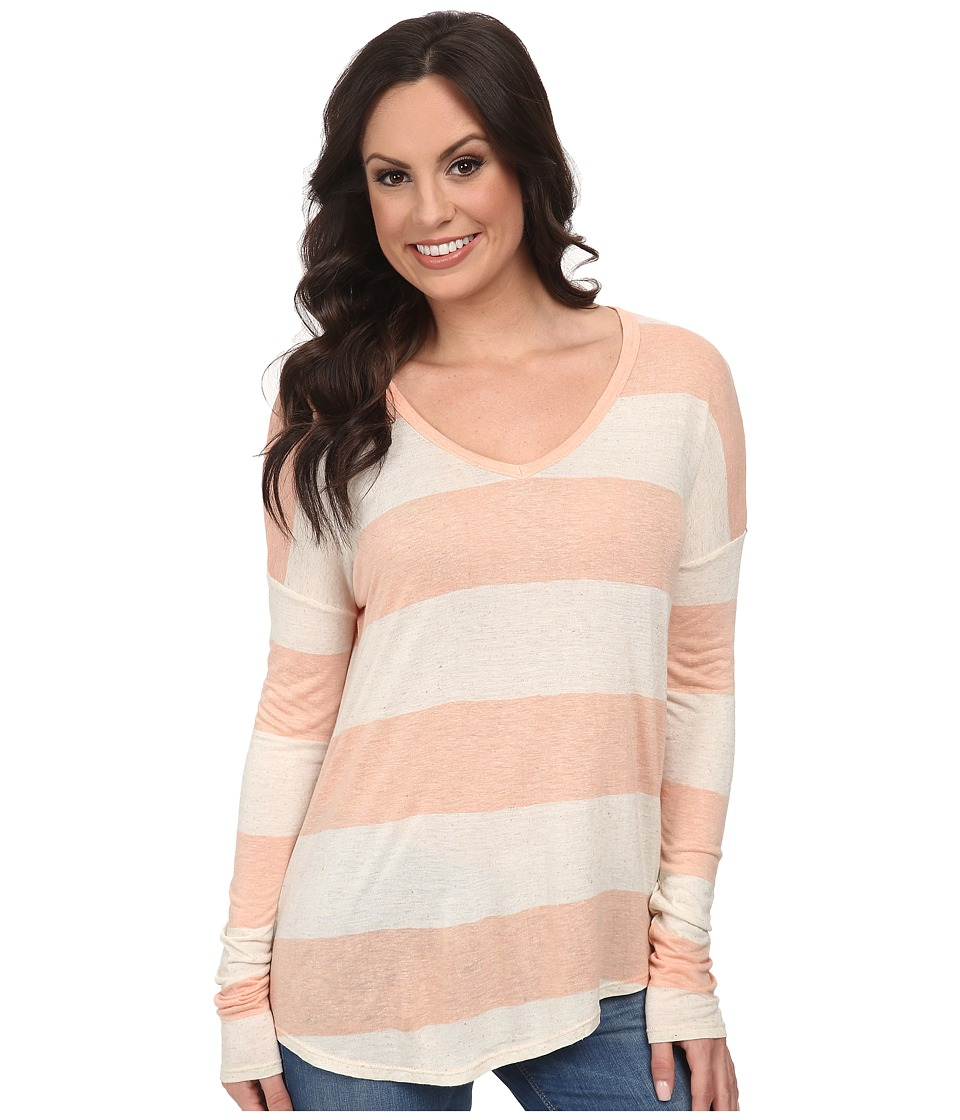 Lucky Brand - Wide Stripe Top (Pink Stripe) Women's Clothing