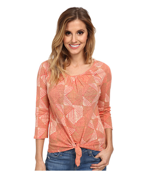 Lucky Brand - Diamond Tie Front Top (Multi) Women's Clothing