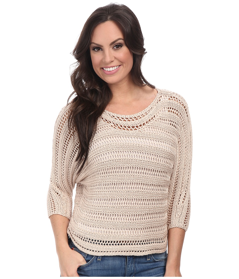 Lucky Brand - Open Stitch Pullover (Light Blush) Women's Clothing