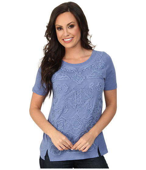 Lucky Brand - Soutache Top (#40100 Colony Blue) Women