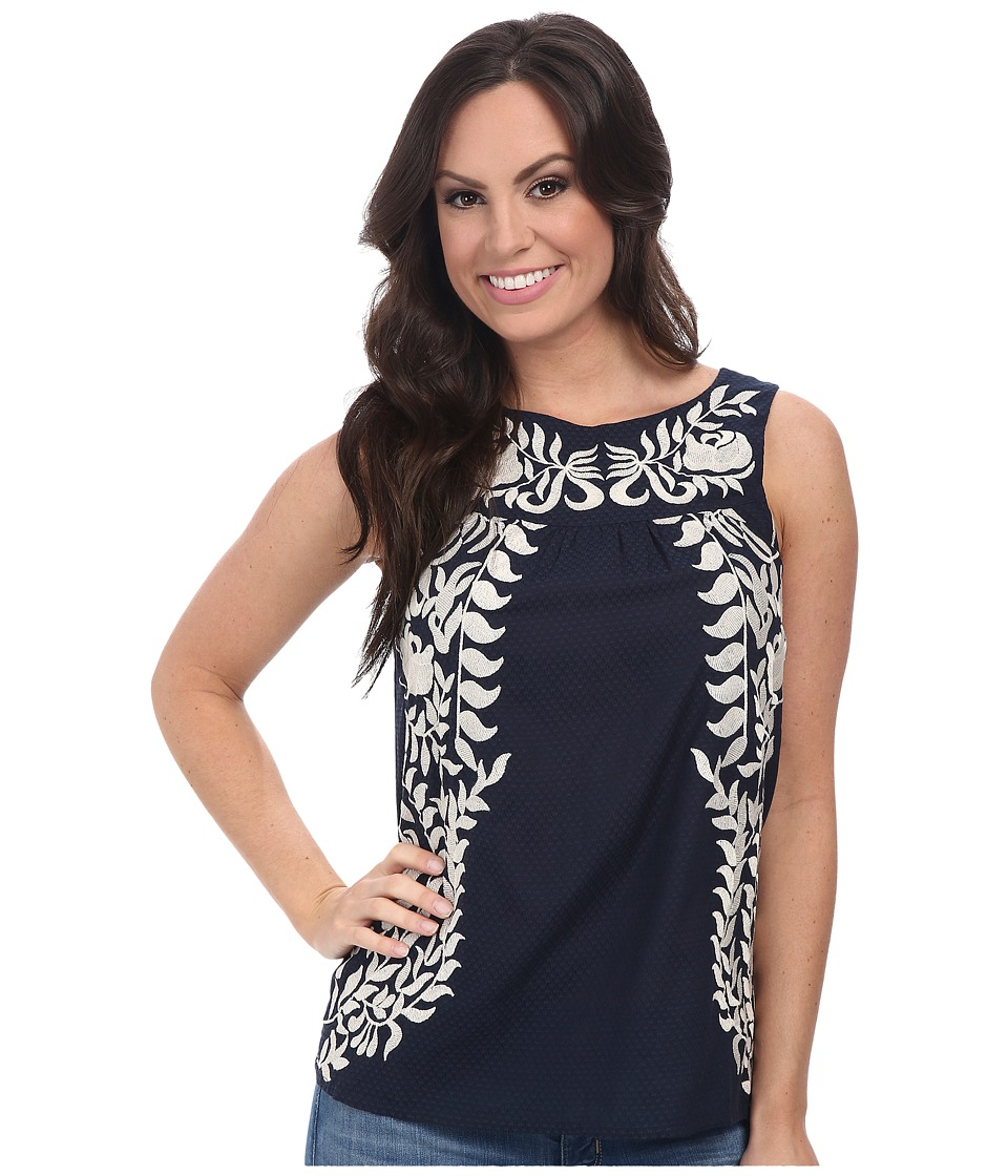 Lucky Brand - Embroidered Shell (Navy Multi) Women's Clothing