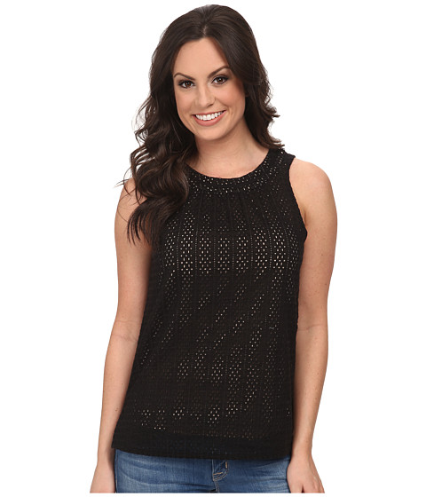 Lucky Brand - Black Eyelet Shell (Lucky Black) Women