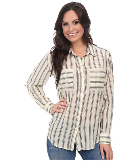 Lucky Brand - Striped Button Down (Natural Multi) Women