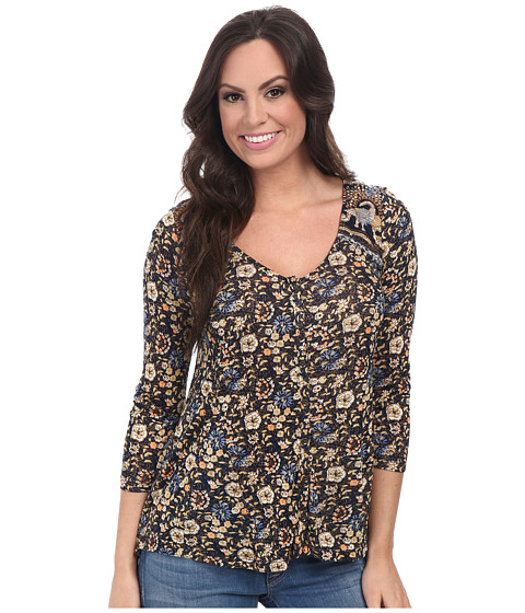 Lucky Brand - Floral Border Top (Multi) Women