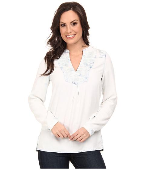 Lucky Brand - Indigo Embroidered Top (Indigo Multi) Women's Clothing
